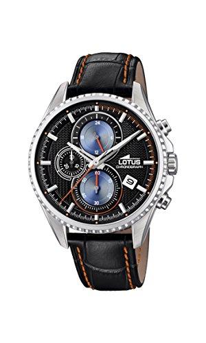 Lotus Watches Reloj Cronógrafo para Hombre de Cuarzo con Correa en Cuero 18527/5