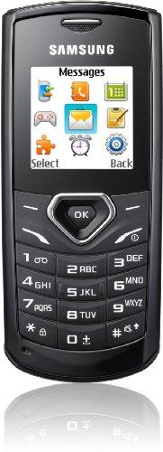 Samsung E1170 Handy (3,9 cm (1,52 Zoll) Bildschirm, 65.536 Farben, uTrack) deep-black