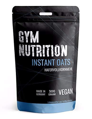 Premium Instant Oats 5Kg - Extra Fein Leicht Bekömmlich - Vollkorn Kohlenhydrate Pulver als Mahlzeitersatz - Fitness, Bodybuilding Instant Oat Kalorien Pulver