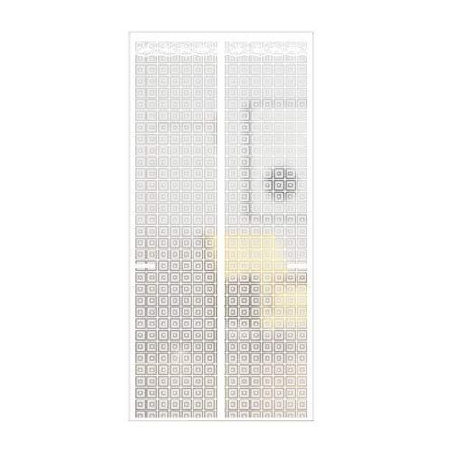 Puerta de Pantalla Magnética con Aislamiento Térmico, Cortina de Puerta de Doble Pliegue Translúcida de Eva, Calor a Prueba de Viento Impermeable Anti-Humo,para Cocina,Balcón