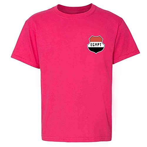 Egypt Soccer Retro National Team Pink S Youth Kids Girl Boy T-Shirt