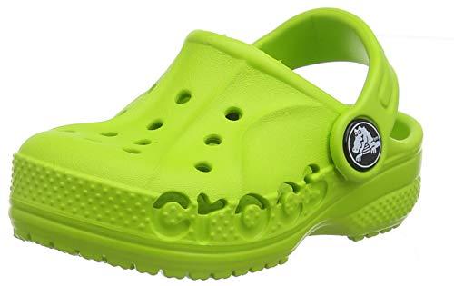Crocs Baya Clog K, Zoccoli Unisex-Bambini, Verde (Volt Green 395), 19/20 EU