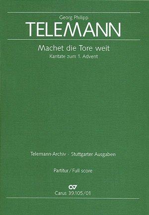 Telemann: Machet die Tore weit (TVWV 1:1074). Partitur