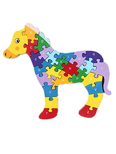 Woop Zahlen-puzzle Holz Pferd - Klein-Kinder ab 3 Jahre
