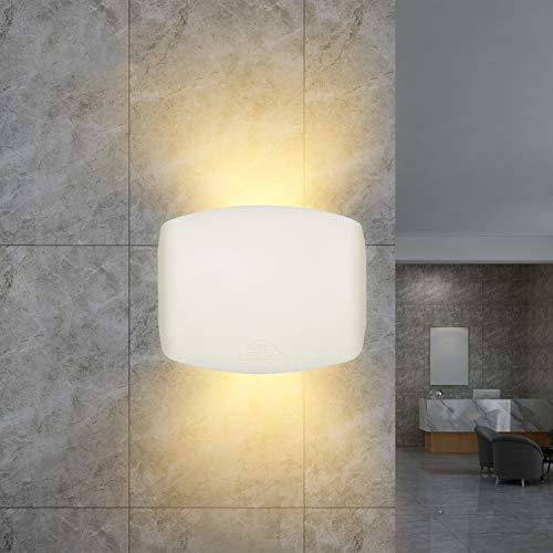 """Wandleuchten Außen/Innen modern Weiß, up down wandleuchte von Registrierter """"FUMATECH"""" Haltbarkeitstechnologie, schlafzimmer wandlampe wand led Einschließlich Austauschbarer Warmweiß Lampe"""