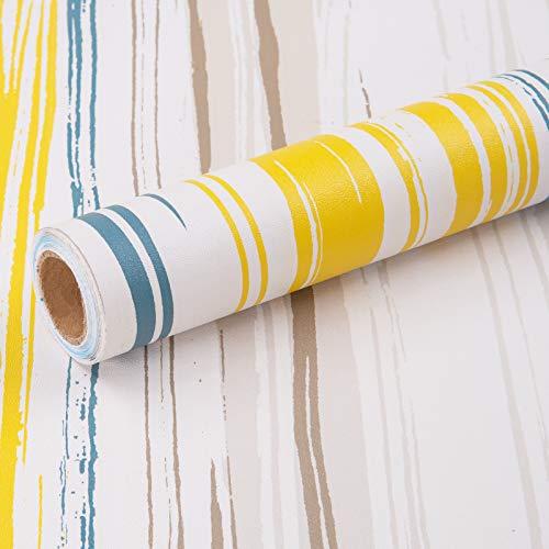 Carta Adesiva per Mobili Colorato Banda 45cmX3m Pellicola Autoadesiva Carta da Parati Moderna Impermeabile in Vinile PVC da Cucina Durevoli Bagno Frigoriferi Porte