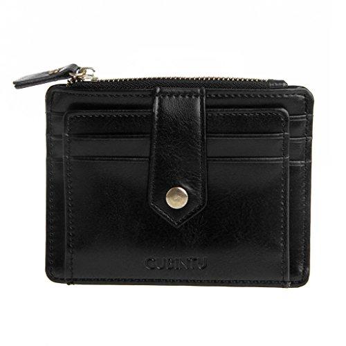 SimpleLife Kreditkartenetui mit Geldscheinklammer | Schlanke Brieftasche | Reisebrieftasche | Minimalistische Mini-Portemonnaie mit Münzfach