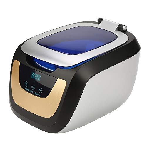 Ultraschallreiniger 750ml, 50W Ultraschallreinigungsgerät, mit Digitalanzeige und 5 Zeiteinstellungen, für Brillenschmuck, Uhren, Schmuck, CDs, Rasierkopf