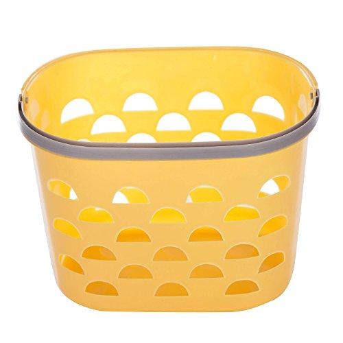 WEIAIXX De kleine douchecabine mand mand Tote mand plastic wasmand badkamer mand badmand, met de mand van geel