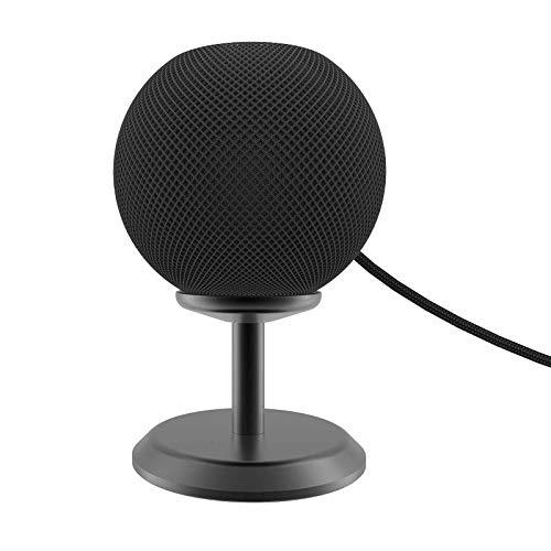 Ständer Kompatibel mit HomePod Mini Charging Metal Bracket - Tischständer Halterung auf dem Tisch Verbesserung der Klarheit und Aussehen, Lautsprecher Ständer, Boxen Ständer Zubehör (Schwarz)