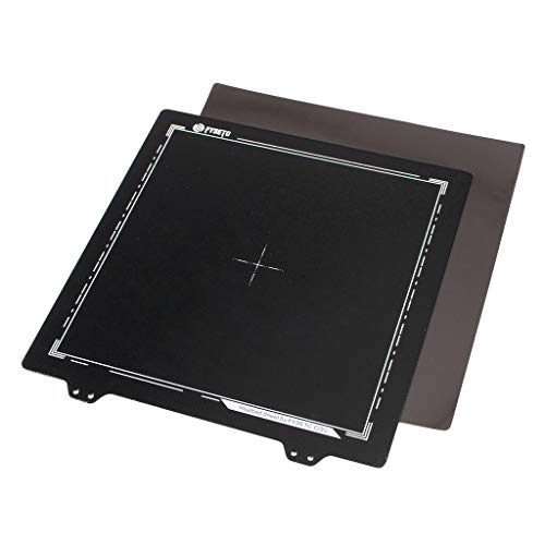 Office Equipment 220x220mm Double Layer Texture Black PEI Powder Steel Plate with Megnetic Sticker for 3D Printer (Color : Black)