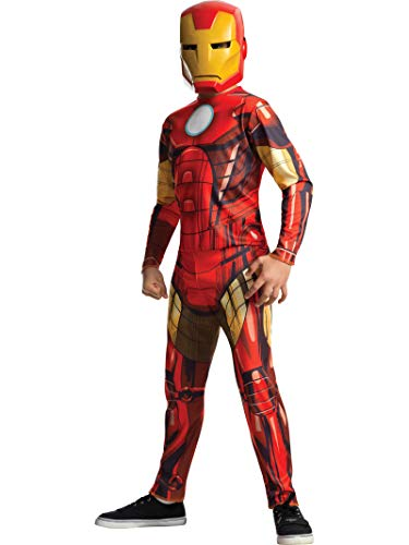 Rubie's - Disfraz Iron Man Classic Infantil, 8-10 años (