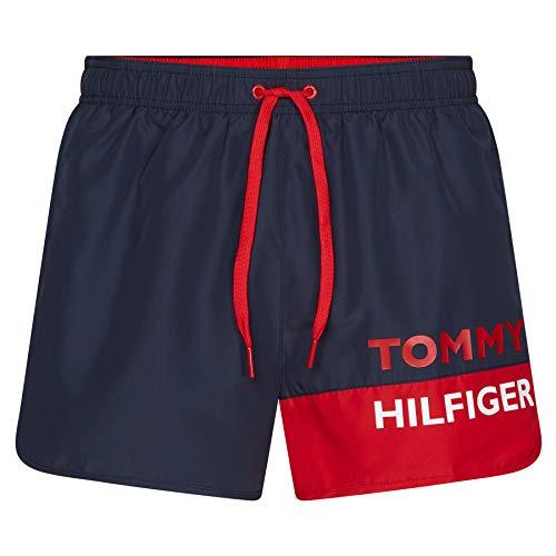 Tommy Hilfiger Herren Runner Badehose, Blau, Medium (Herstellergröße:)