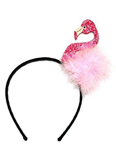 Köllefornication Flamingo Kostüm Haarreif Karneval Fasching Junggesellinnenabschied JGA Pink Rosa Accessoire für Erwachsene