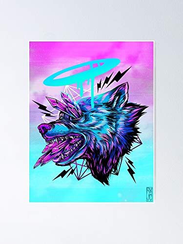 AZSTEEL Crystal Wolf Poster No Frame, Best Gift for Family and Your Friends 11.7x16.5 Inch