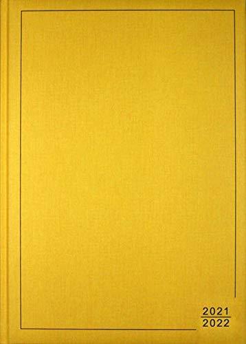 A4 Planer gelb 2021/2022: Bestseller - die Woche auf einen Blick im Großformat