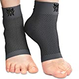 Bitly Ankle Brace for Foot Support - Ankle Compression Sleeve for Heel & Ankle Pain Relief - Neuropathy Nano Socks for Men & Women (Gray, Small)