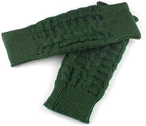 Fashion Knitted Arm Fingerless Winter Gloves Unisex Soft Warm Mitten Hand Gloves eldiven handschoenen 40FE14 - (Color: C, Gloves Size: One Size)
