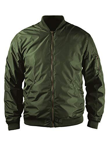 John Doe Flight Jacket XTM | Motorradjacke | XTM | Atmungsaktiv | Motorrad Bomberjacke | Protektoren sind enthalten (Ellbogen und Schulter)