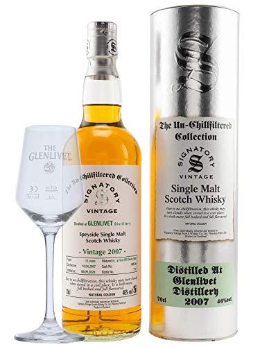 Signatory Vintage Glenlivet 13 Jahre 2007/2020 First Fill Sherry Fass, mit Glas 0,7 L