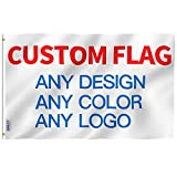 Anley Single Sided Custom Flag 3x5 Foot Customized Flags Banners - Print Your Own Logo/Design/Words - Vivid Color, Canvas Header and Double Stitched - 100D Polyester with Brass Grommets 3 X 5 Ft