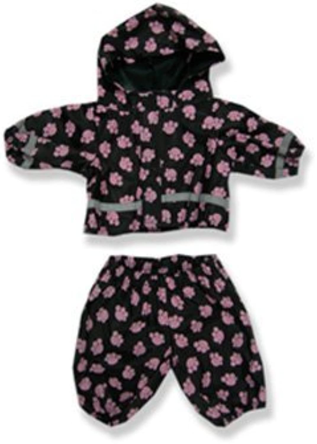 Pink Paws Rain Suit  9113 Fits 15  16 bears, includes Build a Bear, The Bear Mill, and Stuff your own Animals. by The Bear Mill