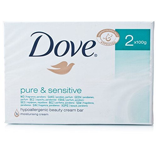 Dove Pure & Sensitive Beauty Cream Bar Twin Pack (3 Packs) by Dove