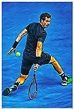 HHGGF Tennis Poster Andy Murray Sport Poster Leinwand