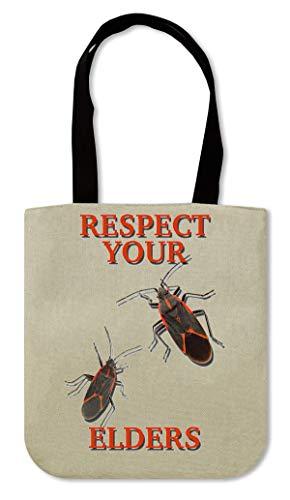 ShutUp Respect Your Elders Canvas Einkaufstasche