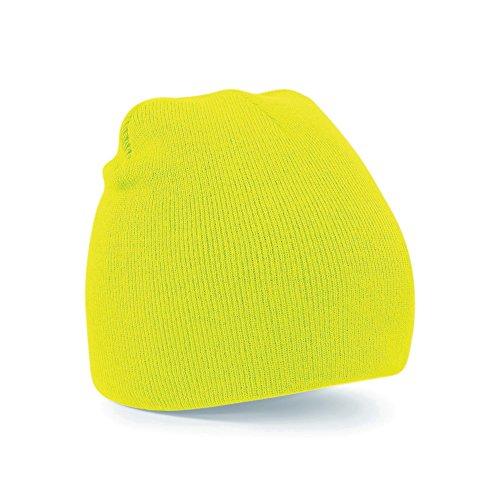 berretto giallo fluo Beechfield - Cappello Invernale a Maglia - Uomo (Taglia Unica) (Giallo Fluo)