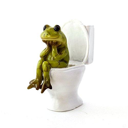 cute frog figurine for the bathroom