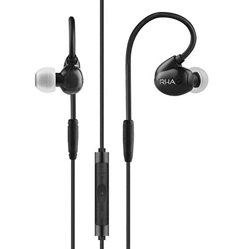 RHA T20i: Im-Ohr-Kopfhörer Edelstahl mit DualCoil Technologie, Fernbedienung und Mikrofon - Schwarz