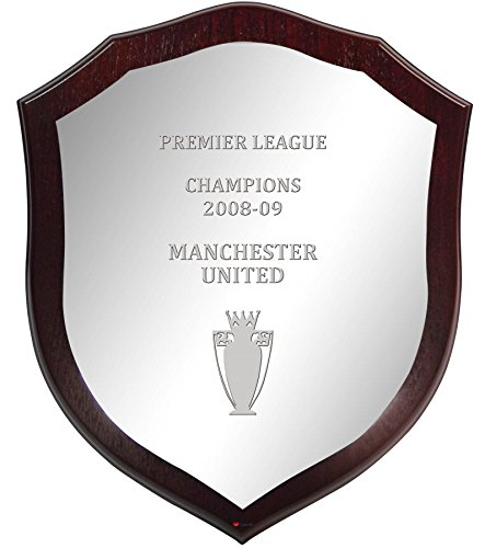 iLuv Premier League Champions Manchester United 2008-09, Large Wall or Desk, Wooden League Shield
