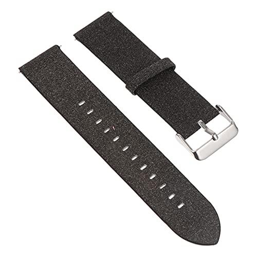 ibasenice Bandas de Reloj de Cuero de Brillo Correa de Reloj Reloj Inteligente Reemplazo de Pulsera con Hebilla de Metal Compatible para Samsung Galaxy Reloj de 3/45/ 46Mm/ Equipo S3 22Mm