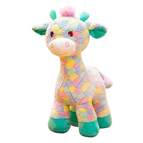 Pluche Giraffe Knuffel Grote Lappenpop Pop-color_50cm