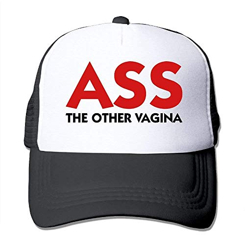 Ass - The Other Vagina Mesh Trucker Caps/Hats Adjustable for Unisex Black