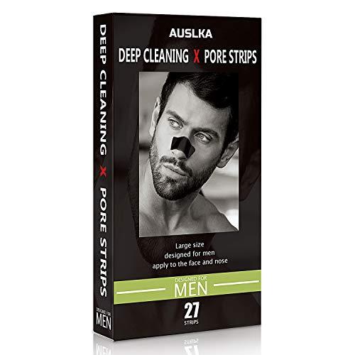Nase Clear-Up Strips, Nasenstrips für Männer 27 Stück, Streifen zum Mitesserentfernen Streifen Tiefenreinigend Streifen, mit Aktivkohle