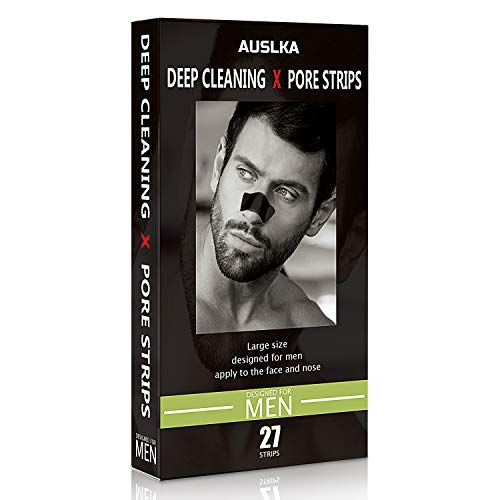 Nasen Clear-Up Blackhead Strips, Nasenpflaster für Männer 27 Stück, Streifen zum Mitesserentfernen Streifen Tiefenreinigend Streifen, mit Aktivkohle