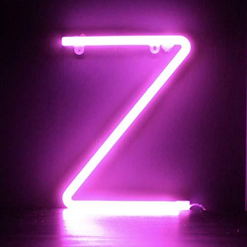 Smiling Faces UK Neon LED Pink Buchstaben Licht Zeichen - Wandbehang batteriebetrieben - Brief Z