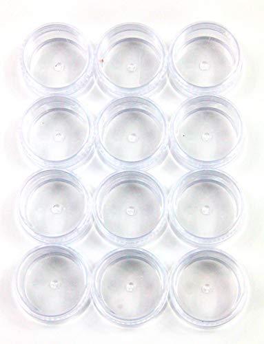 ZADAWERK® Döschen - Kunststoff - 10 ml - 12 Stück - Aufbewahrungsbox mit Deckel