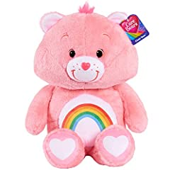 "Celebrate 35 years of Caring, with these classic retro plush Care Bears! The collector's edition Care Bears plush are sure to bring back memories with the original 1980's inspired design! Made with soft deluxe materials. Each bear stands 21"" Tall. Pe..."