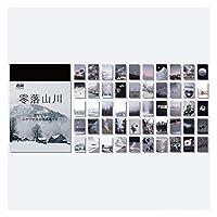 シャツ 山雲の素材紙日記プランナーのクラフト紙のスクラップブックの装飾工芸品フォトアルバムの50個 (Color : D)
