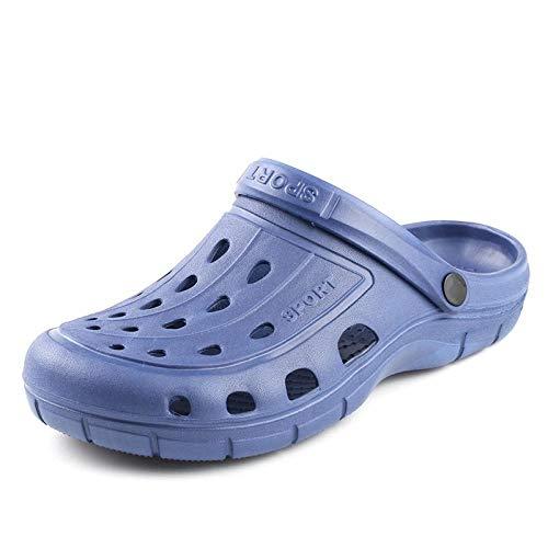 Hombres De Verano De Secado Rápido Zapatillas De Casa Casuales Zapatos De Jardín Masculinos Sandalias De Playa Mulas Antideslizantes Zapatillas De Baño