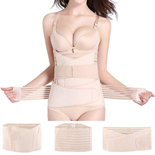 Hip Mall 3 en 1 Faja posparto Ayuda para la recuperación Belly Wrap Cinturón de sección C Postnatal