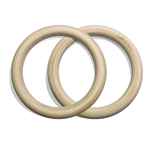 GUOJIAYI Portable 32mm wooden wooden ring kit gymnastic ring gym shoulder home fitness training equipment