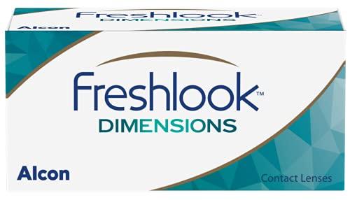 Alcon FreshLook Dimensions Pacific Blue Monatslinsen weich, 6 Stück / BC 8.6 mm / DIA 14.5 / +6 Dioptrien