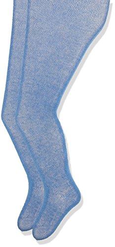 Melton Baby-Jungen 2er Pack einfarbig Unisex Strumpfhose, Blau (Delft Blue 239), 56-62 (Herstellergröße: 0-3M)