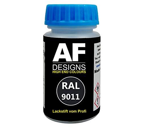 Alex Flittner Designs Lackstift RAL 9011 GRAPHITSCHWARZ matt 50ml schnelltrocknend Acryl
