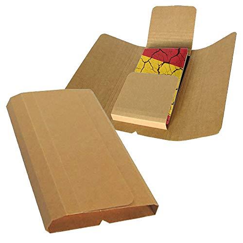 25 Cajas de Cartón para Libros 280 x 180 mm hasta 70 mm altura de Color Marrón y Canal Simple para Envíos o Guardar Libros CDs DVDs Comics Revistas (280x180x70mm (25 Unds.)