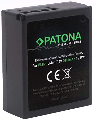 (Volldekodiert) PATONA Premium Ersatz für Akku Olympus BLH-1 (echte 2040mAh) zu Olympus OM-D E-M1 Mark II III und OM-D E-M1X